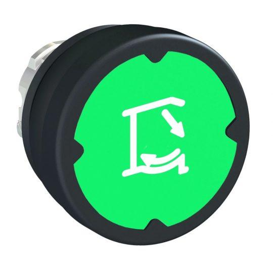 Schneider ZB4BC38013 Harmony fém durva környezeti nyomógomb fej, Ø22, visszatérő, zöld, szimbólummal