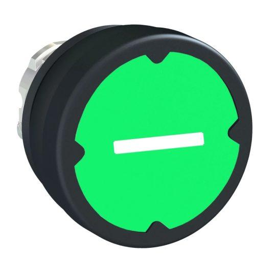 Schneider ZB4BC38023RA Harmony fém durva környezeti nyomógomb fej, Ø22, visszatérő, zöld, elforgatott szimbólummal