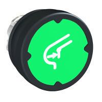 Schneider ZB4BC38029RA Harmony fém durva környezeti nyomógomb fej, Ø22, visszatérő, zöld, elforgatott szimbólummal