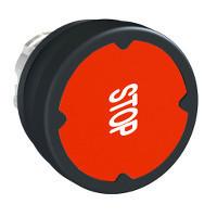 """Schneider ZB4BC48007RA Harmony fém durva környezeti nyomógomb fej, Ø22, visszatérő, piros, elforgatott """"STOP"""""""