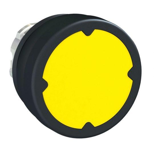 Schneider ZB4BC580 Harmony fém durva környezeti nyomógomb fej, Ø22, visszatérő, sárga
