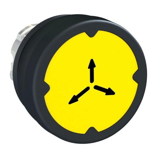 Schneider ZB4BC58009 Harmony fém durva környezeti nyomógomb fej, Ø22, visszatérő, sárga, szimbólummal