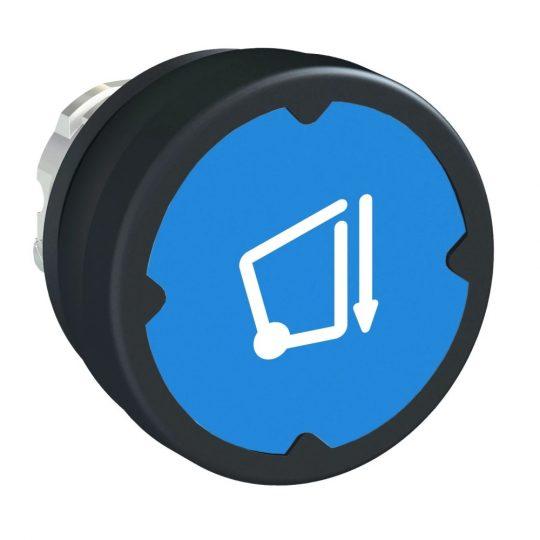 Schneider ZB4BC68006 Harmony fém durva környezeti nyomógomb fej, Ø22, visszatérő, kék, szimbólummal