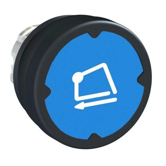Schneider ZB4BC68006RA Harmony fém durva környezeti nyomógomb fej, Ø22, visszatérő, kék, elforgatott szimbólummal