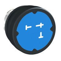 Schneider ZB4BC68026 Harmony fém durva környezeti nyomógomb fej, Ø22, visszatérő, kék, szimbólummal