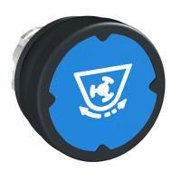 Schneider ZB4BC68032 Harmony fém durva környezeti nyomógomb fej, Ø22, visszatérő, kék, szimbólummal