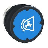 Schneider ZB4BC68032RA Harmony fém durva környezeti nyomógomb fej, Ø22, visszatérő, kék, elforgatott szimbólummal