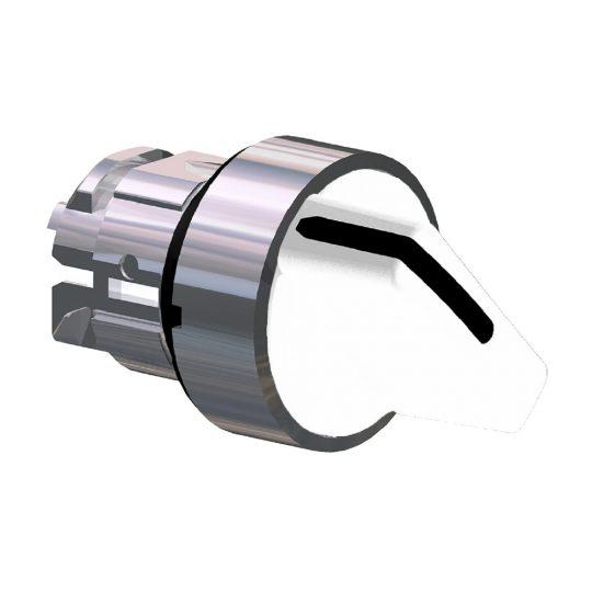 Schneider ZB4BD201 Harmony fém választókapcsoló fej, Ø22, 2 állású, fehér