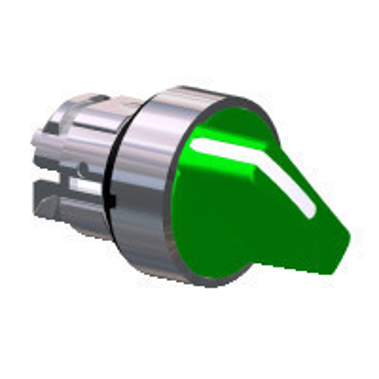 Schneider ZB4BD203 Harmony fém választókapcsoló fej, Ø22, 2 állású, zöld