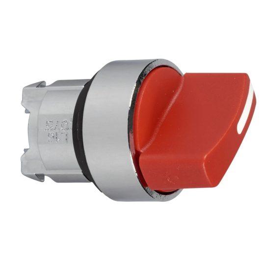 Schneider ZB4BD204 Harmony fém választókapcsoló fej, Ø22, 2 állású, piros