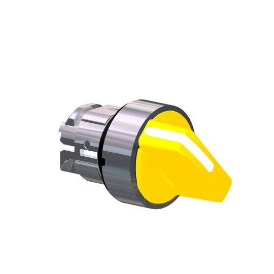Schneider ZB4BD205 Harmony fém választókapcsoló fej, Ø22, 2 állású, sárga