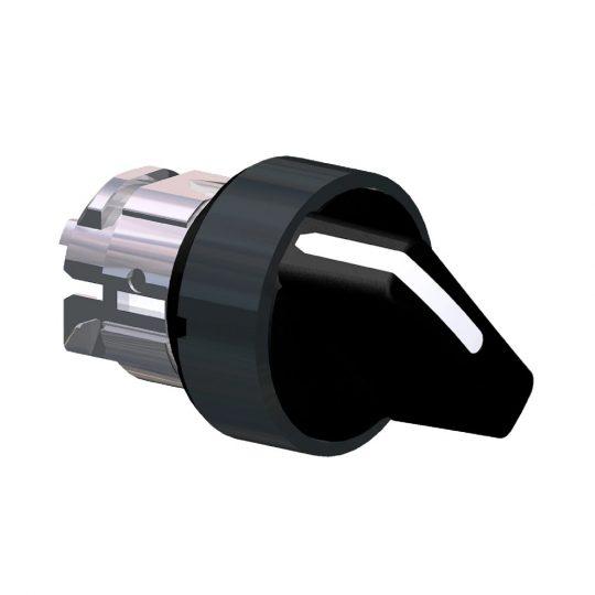 Schneider ZB4BD27 Harmony fém választókapcsoló fej, Ø22, 2 állású, fekete, fekete perem