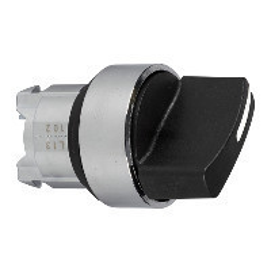 Schneider ZB4BD2TQ Harmony fém választókapcsoló fej, Ø22, 2 állású, fekete 100 darabos csomagban