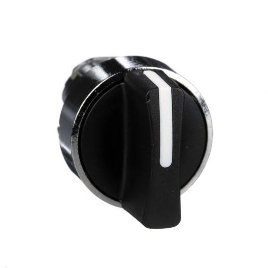 Schneider ZB4BD3 Harmony fém választókapcsoló fej, Ø22, 3 állású, fekete