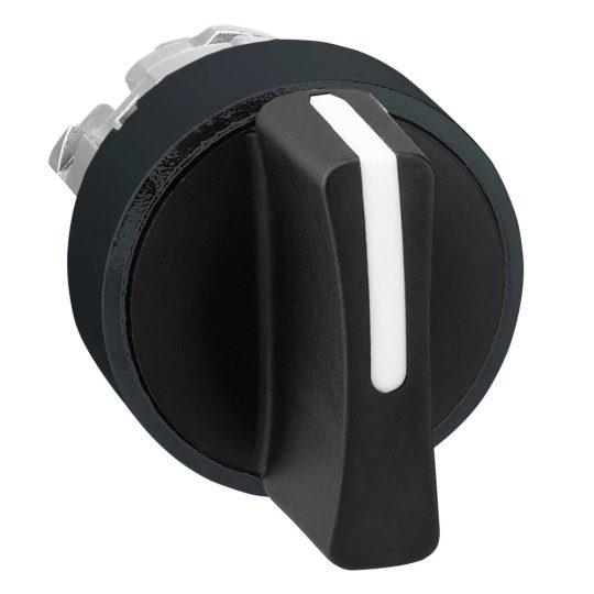 Schneider ZB4BD37 Harmony fém választókapcsoló fej, Ø22, 3 állású, fekete, fekete perem