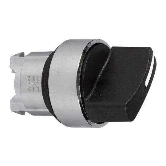 Schneider ZB4BD3TQ Harmony fém választókapcsoló fej, Ø22, 3 állású, fekete 100 darabos csomagban