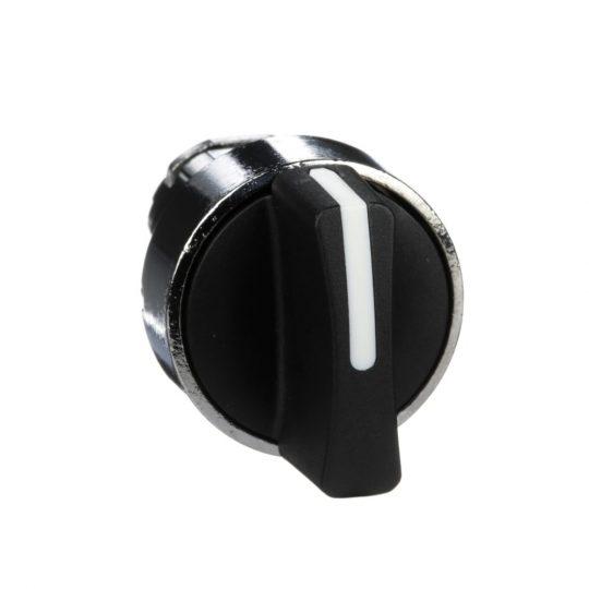 Schneider ZB4BD5 Harmony fém választókapcsoló fej, Ø22, 3 állású középre visszatérő, fekete
