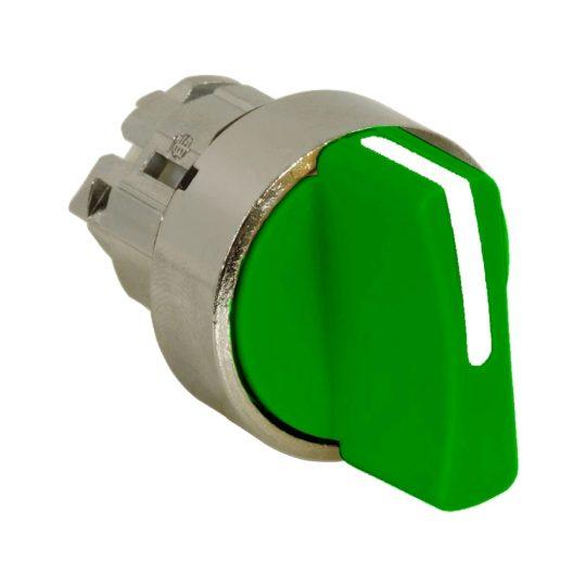Schneider ZB4BD503 Harmony fém választókapcsoló fej, Ø22, 3 állású középre visszatérő, zöld