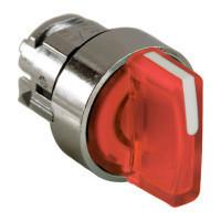 Schneider ZB4BD504 Harmony fém választókapcsoló fej, Ø22, 3 állású középre visszatérő, piros