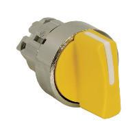 Schneider ZB4BD505 Harmony fém választókapcsoló fej, Ø22, 3 állású középre visszatérő, sárga