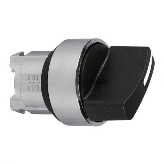 Schneider ZB4BD5TQ Harmony fém választókapcsoló fej, Ø22, 3 állású középre visszatérő, fekete 100 darabos csomagban