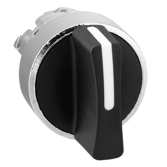 Schneider ZB4BD7 Harmony fém választókapcsoló fej, Ø22, 3 állású balról középre visszatérő, fekete