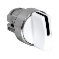 Schneider ZB4BD701 Harmony fém választókapcsoló fej, Ø22, 3 állású balról középre visszatérő, fehér