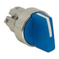Schneider ZB4BD706 Harmony fém választókapcsoló fej, Ø22, 3 állású balról középre visszatérő, kék