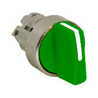 Schneider ZB4BD803 Harmony fém választókapcsoló fej, Ø22, 3 állású jobbról középre visszatérő, zöld
