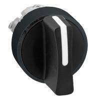 Schneider ZB4BD87 Harmony fém választókapcsoló fej, Ø22, 3 állású jobbról középre visszatérő, fekete, fekete perem