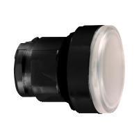 Schneider ZB4BH0137 Harmony fém világító nyomógomb fej, Ø22, nyomó-nyomó, fehér, fekete perem