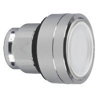 Schneider ZB4BH0183 Harmony fém világító nyomógomb fej, Ø22, nyomó-nyomó, betehető címke, fehér