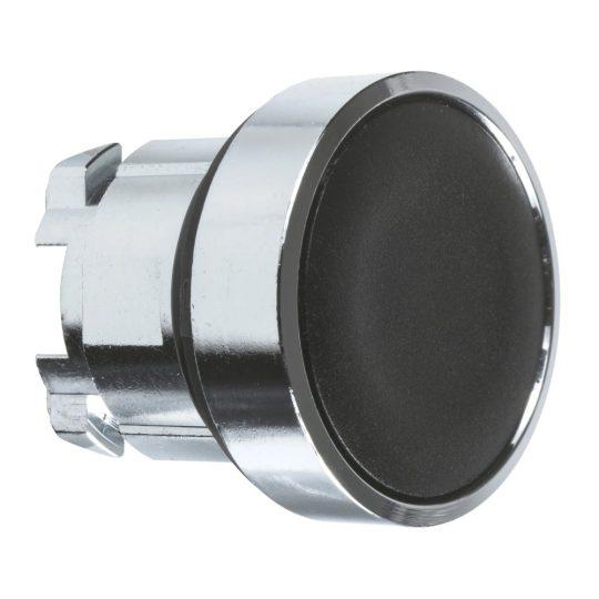 Schneider ZB4BH02 Harmony fém nyomógomb fej, Ø22, nyomó-nyomó, fekete