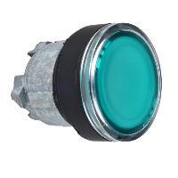Schneider ZB4BH0337 Harmony fém világító nyomógomb fej, Ø22, nyomó-nyomó, zöld, fekete perem