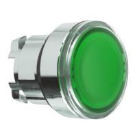 Schneider ZB4BH037 Harmony fém nyomógomb fej, Ø22, nyomó-nyomó, zöld, fekete perem