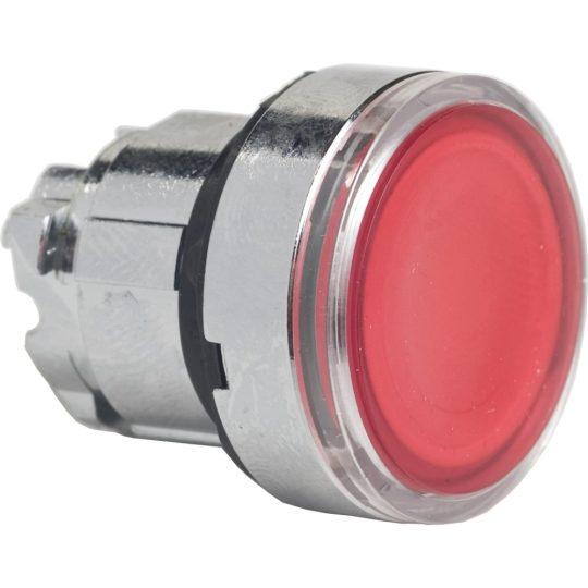 Schneider ZB4BH043 Harmony fém világító nyomógomb fej, Ø22, nyomó-nyomó, piros
