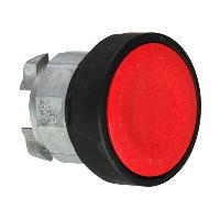 Schneider ZB4BH047 Harmony fém nyomógomb fej, Ø22, nyomó-nyomó, piros, fekete perem