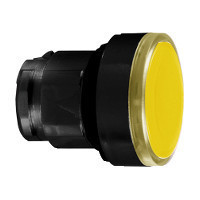 Schneider ZB4BH0537 Harmony fém világító nyomógomb fej, Ø22, nyomó-nyomó, naracssárga, fekete perem