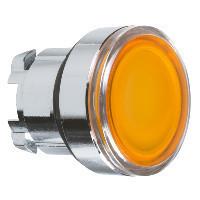Schneider ZB4BH0583 Harmony fém világító nyomógomb fej, Ø22, nyomó-nyomó, betehető címke, naracssárga