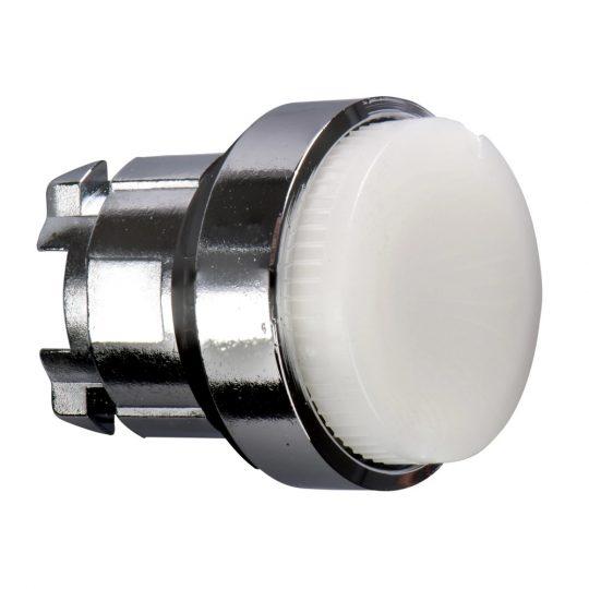 Schneider ZB4BH13 Harmony fém világító nyomógomb fej, Ø22, nyomó-nyomó, kiemelkedő, fehér