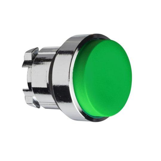 Schneider ZB4BH3 Harmony fém nyomógomb fej, Ø22, nyomó-nyomó, kiemelkedő, zöld