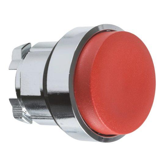 Schneider ZB4BH4 Harmony fém nyomógomb fej, Ø22, nyomó-nyomó, kiemelkedő, piros
