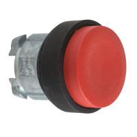 Schneider ZB4BH47 Harmony fém nyomógomb fej, Ø22, nyomó-nyomó, kiemelkedő, piros, fekete perem