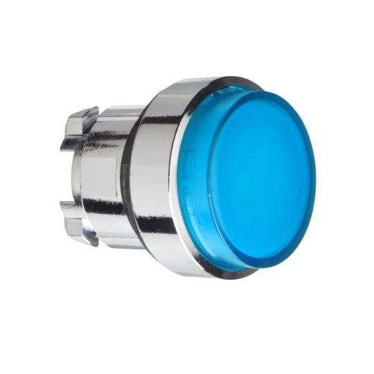 Schneider ZB4BH63 Harmony fém világító nyomógomb fej, Ø22, nyomó-nyomó, kiemelkedő, kék