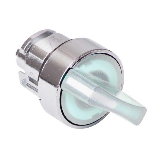 Schneider ZB4BK1213 Harmony fém világító választókapcsoló fej, Ø22, 2 állású, fehér