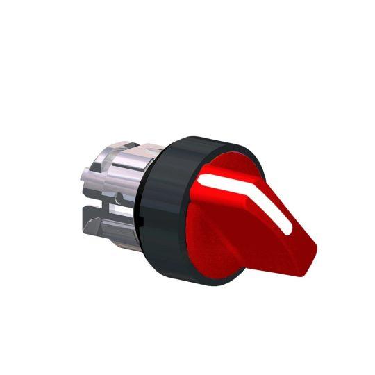 Schneider ZB4BK12437 Harmony fém világító választókapcsoló fej, Ø22, 2 állású, piros, fekete perem