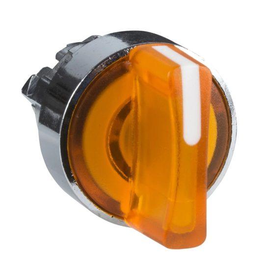 Schneider ZB4BK1253 Harmony fém világító választókapcsoló fej, Ø22, 2 állású, narancssárga