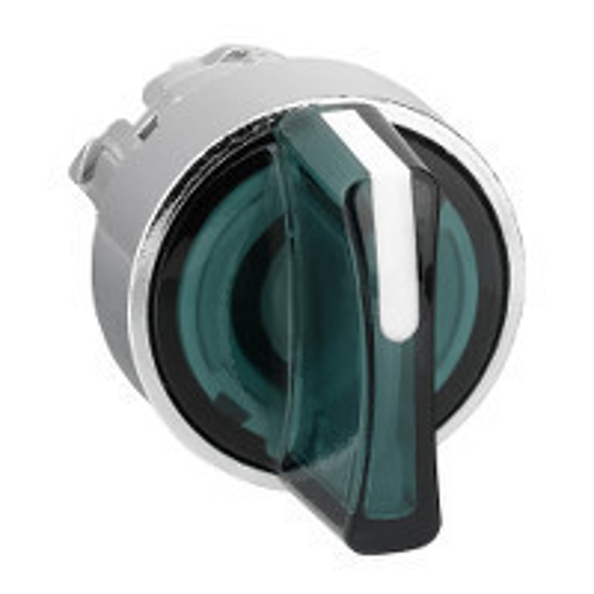 Schneider ZB4BK1333 Harmony fém világító választókapcsoló fej, Ø22, 3 állású, zöld