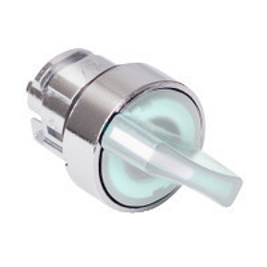Schneider ZB4BK1413 Harmony fém világító választókapcsoló fej, Ø22, 2 állású, fehér, jobbról visszatérő