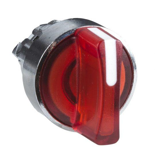 Schneider ZB4BK1443 Harmony fém világító választókapcsoló fej, Ø22, 2 állású, piros, jobbról visszatérő